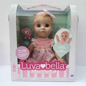 Luva Bella Blonde Girl Interactive Baby Doll